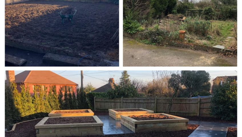 Preperation-of-groundwork-for-constrcution-of-Raised-vegetable-beds-Ightham-Kent
