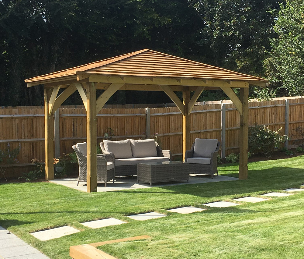 Roofed Pergola for afternoon shade Addington West Malling Kent