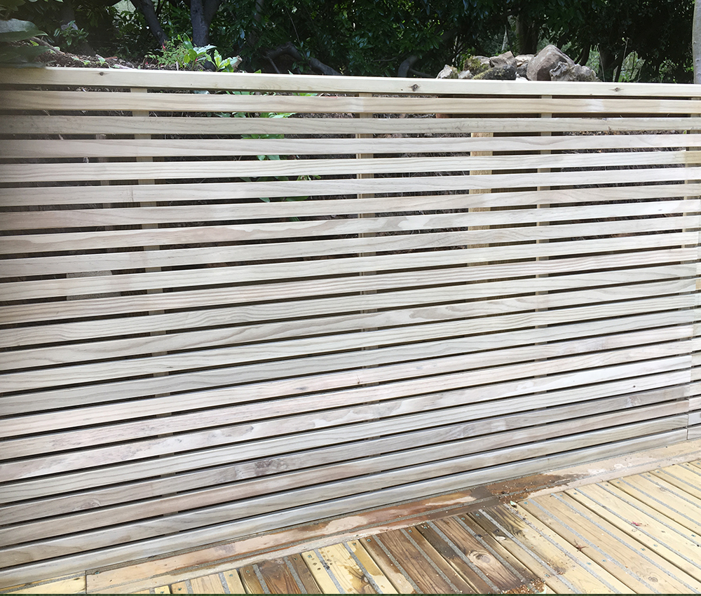 6 Foot Contemporary slatted panelled fencing Ightham Kent