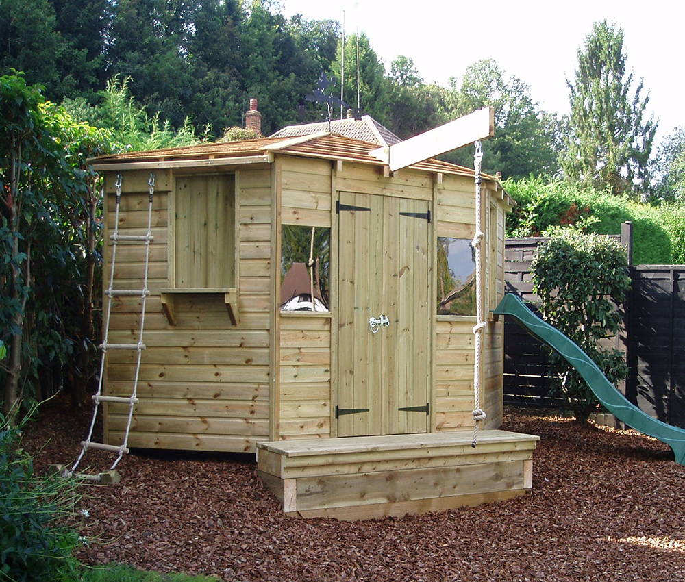 Adventure playhouse with secret door, rope ladder and slide Orpington Kent