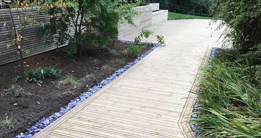 Anti slip decked pathway, Ightham, Kent