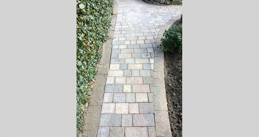 Block paved pathway. Tonbridge, Kent