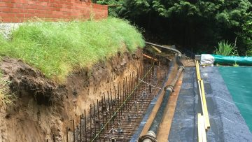 During-construction-for-retaining-wall-showing-the-steel-work-Seal-Chart-Sevenoaks-Kent