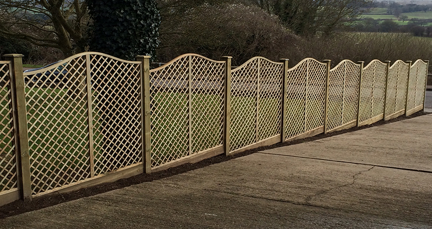 Ornamental trellis fencing