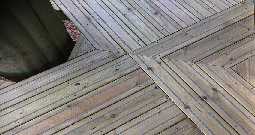 Pressure treated softwood Anti slip decking, Aylesford, Kent