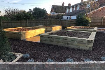 Raised Timber Vegetable Bays