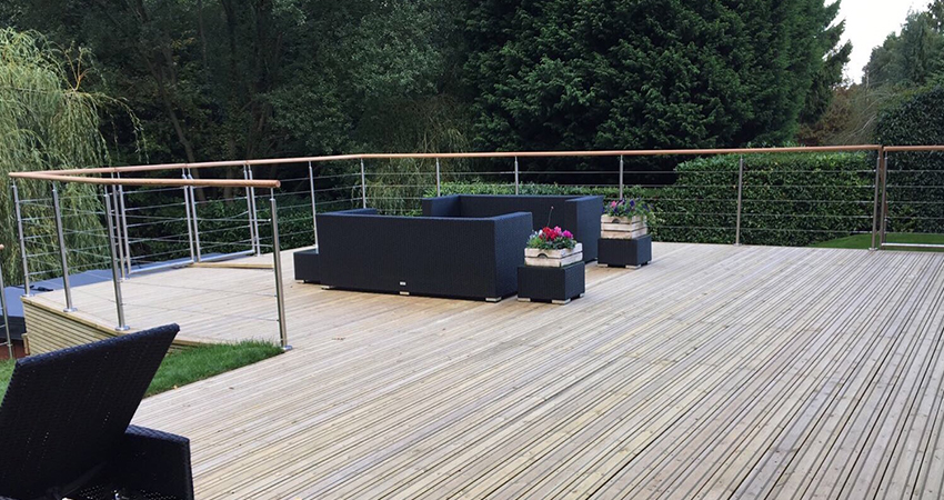 Relaxing decked space to enjoy the view of your garden. Ightham, Kent